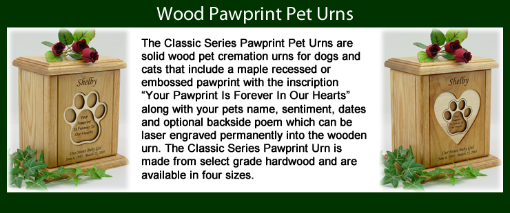 Pawprint Pet Urns