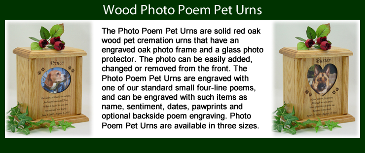 Photo Poem Pet Urns