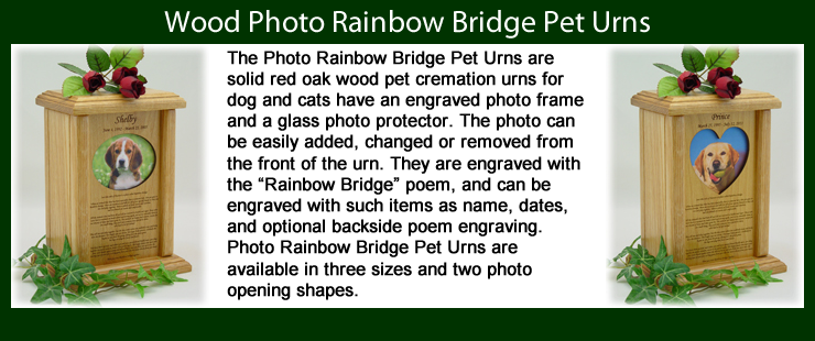 Photo Rainbow Bridge Pet Urns