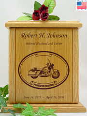 Forever Riding Tour Motorcycle Urn