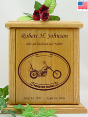 Forever Riding Chopper Motorcycle Urn